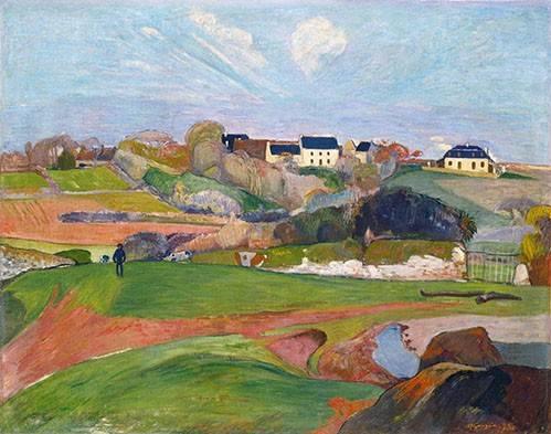 tableaux-de-paysages - Tableau -Paisaje en Le Pouldu, 1890- - Gauguin, Paul