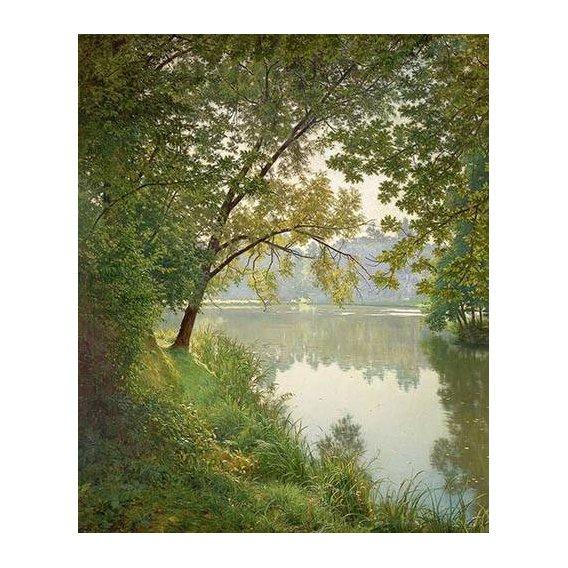 pinturas de paisagens - Quadro -Matin à Villeneuve-