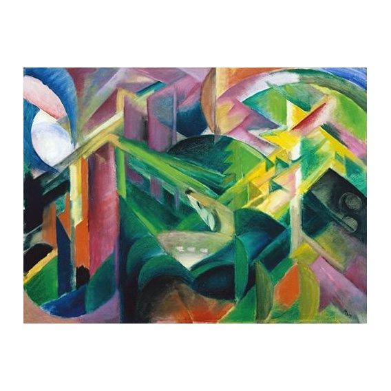 pinturas abstratas - Quadro -Deer in a Monastery Garden-