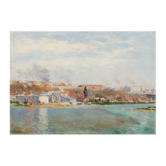 pinturas de paisagens - Quadro -Madrid Desde El Manzanares-