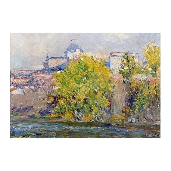 pinturas de paisagens - Quadro -Orillas del Manzanares-