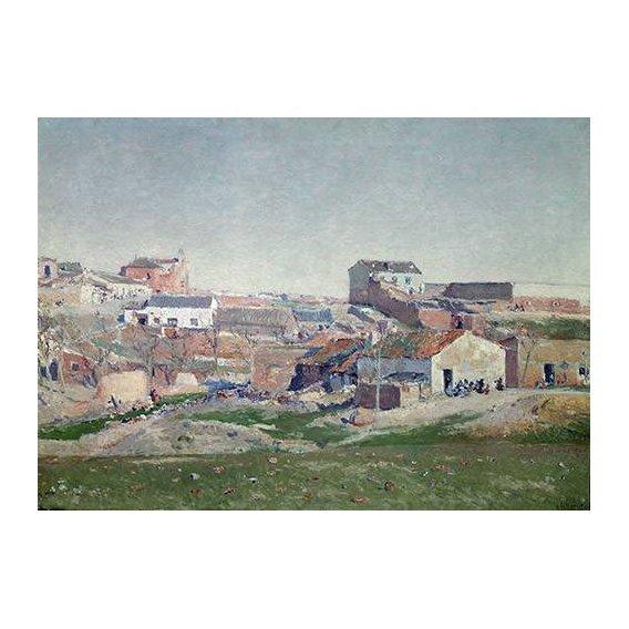 pinturas de paisagens - Quadro -Barrio de Bellas Vistas (Afueras de Madrid)-