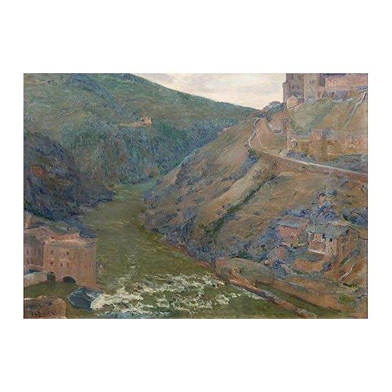 pinturas de paisagens - Quadro -El Tajo, Toledo-