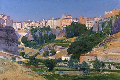 tableaux-de-paysages - Tableau -Las huertas (Cuenca)- - Beruete, Aureliano de