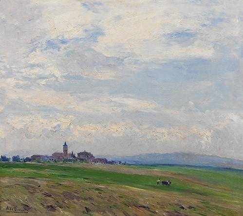 tableaux-de-paysages - Tableau -Paisaje castellano- - Beruete, Aureliano de