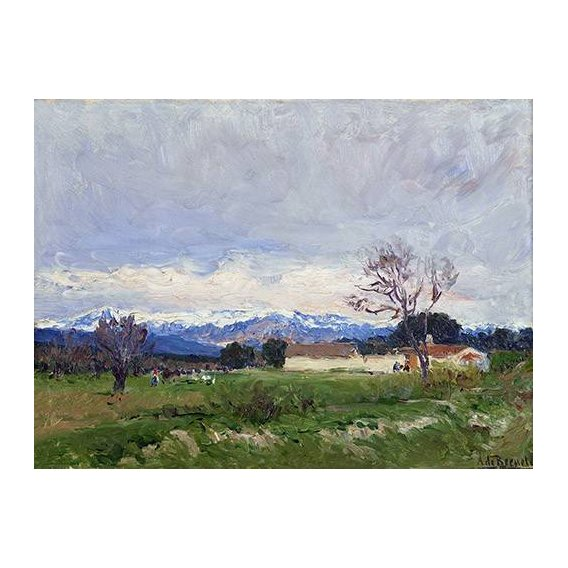 pinturas de paisagens - Quadro -Paisaje del Pardo (Madrid)-