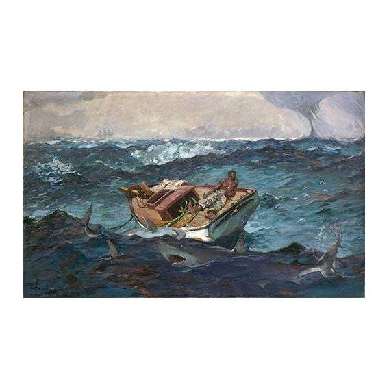 pinturas de paisagens marinhas - Quadro -The Gulf Stream, 1899-