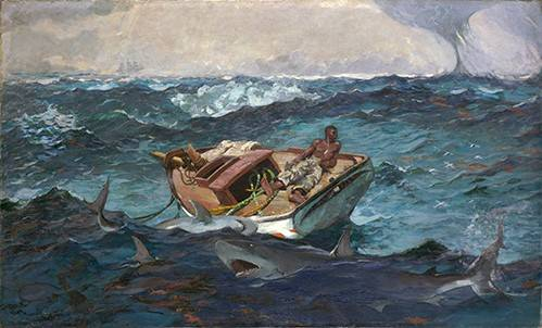 tableaux-de-paysages-marins - Tableau -The Gulf Stream, 1899- - Homer, Winslow