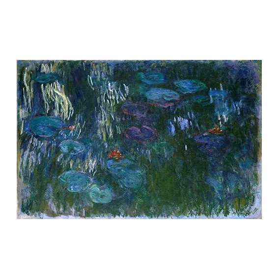 pinturas de paisagens - Quadro -Water Lilies (2)-