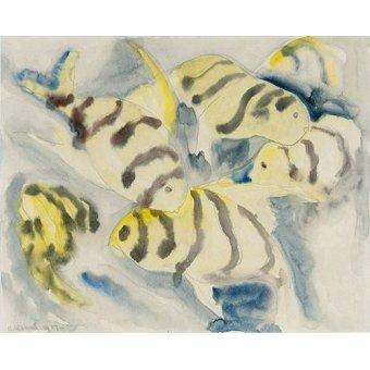 Tableaux de faune - Tableau -Fish Series, No-3- - Demuth, Charles