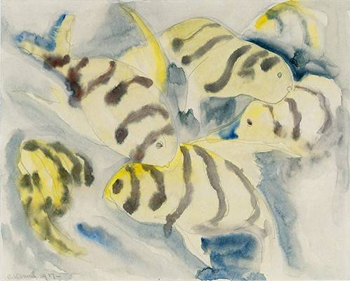 tableaux-modernes - Tableau -Fish Series, No-3- - Demuth, Charles