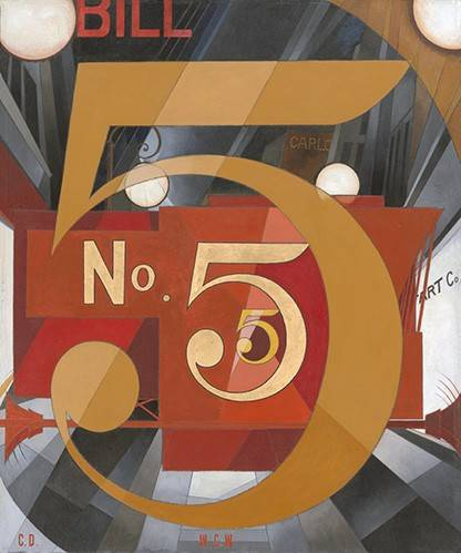 tableaux-modernes - Tableau -I Saw the Figure 5 in Gold- - Demuth, Charles