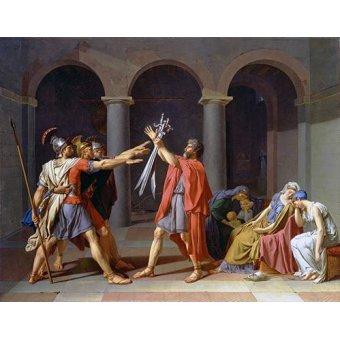 Tableaux de Personnages - Tableau -Le serment des Horaces- - David, Jacques Louis