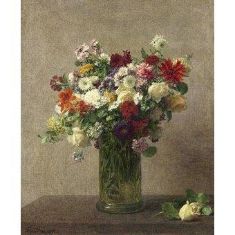 Tableaux de Fleurs - Tableau -Flores en un jarron- - Fantin Latour, Henri