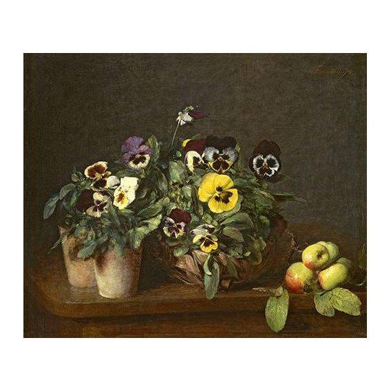 imagens de flores - Quadro -Still Life with Pansies-
