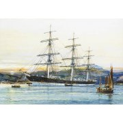 Tableau -The square-rigged Australian clipper -Old Kensington- lying on