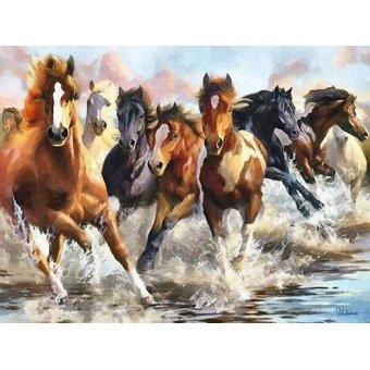Tableaux modernes - Tableau -Moderno CM10750- (caballos) - Medeiros, Celito