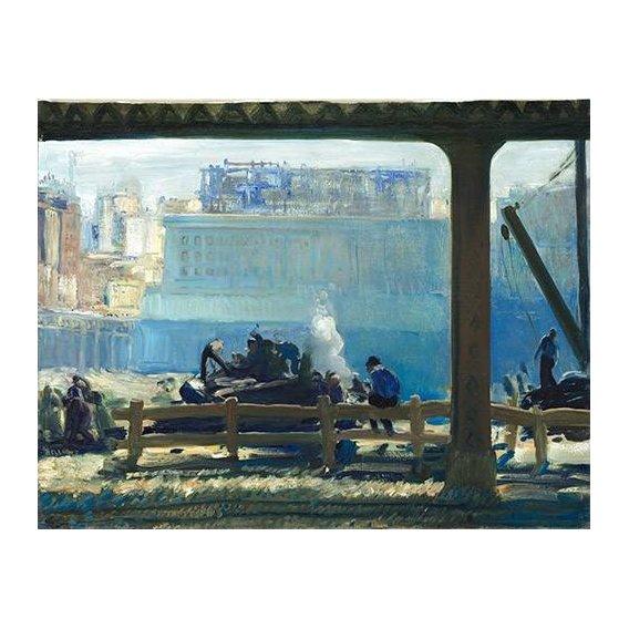 pinturas de paisagens - Quadro -Blue Morning-