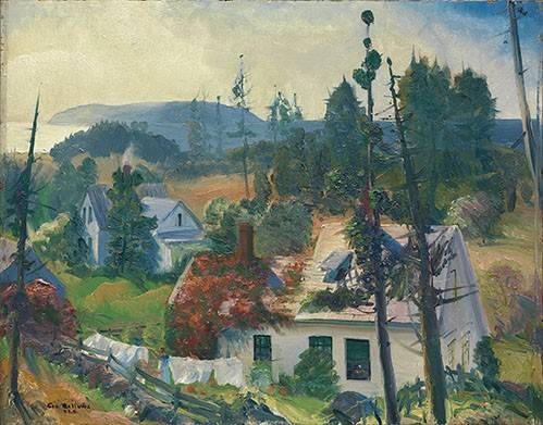 tableaux-de-paysages - Tableau -The Red Vine, Matinicus Island, Maine- - Bellows, George