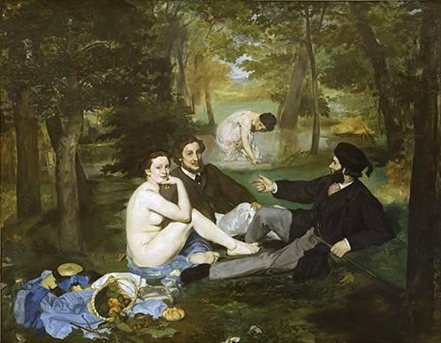 tableaux-de-personnages - Tableau -Le Déjeuner sur l'Herbe, 1863- - Manet, Eduard