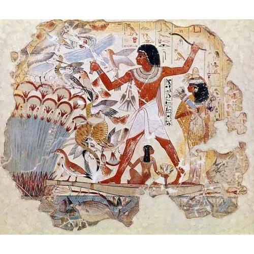 Tableau -Fresco en Thebes,- Casa de pajaros--