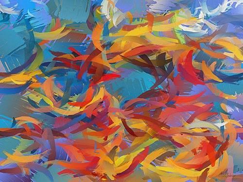tableaux-modernes - Tableau -Moderno CM12426- - Medeiros, Celito