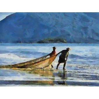 Tableaux de paysages marins - Tableau -Moderno CM12735- - Medeiros, Celito