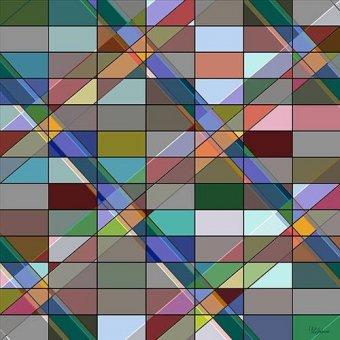 Tableaux abstraits - Tableau -Moderno CM12614- - Medeiros, Celito