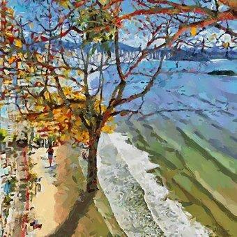 Tableaux de paysages marins - Tableau -Moderno CM12587- - Medeiros, Celito