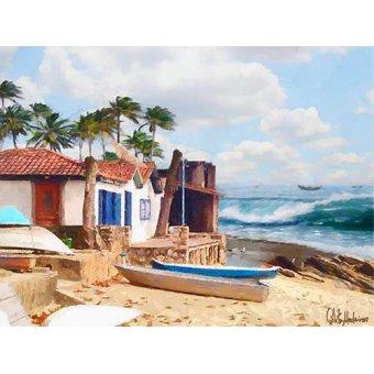 Tableaux de paysages marins - Tableau -Moderno CM10738- - Medeiros, Celito