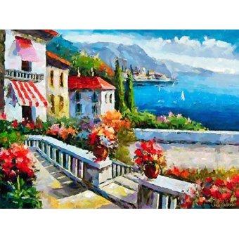 Tableaux de paysages marins - Tableau -Moderno CM10606- - Medeiros, Celito