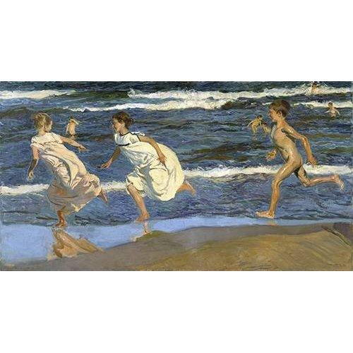 Tableau -Courir sur la plage-