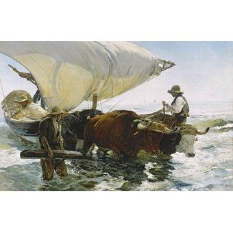 Tableaux de paysages marins - Tableau -Retour de la pêche- - Sorolla, Joaquin
