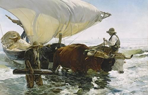 tableaux-de-paysages-marins - Tableau -Retour de la pêche- - Sorolla, Joaquin