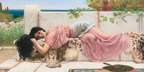 tableaux-de-personnages - Tableau -When the heart is young, 1902- - Godward, John William