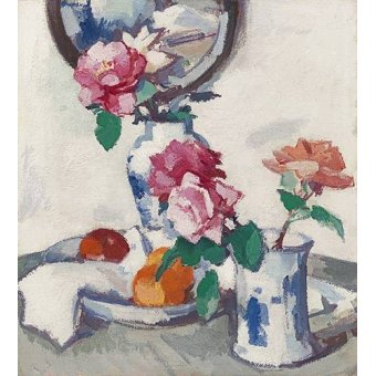 Tableaux nature morte - Tableau -Still life with roses and fruit- - Peplow, Samuel