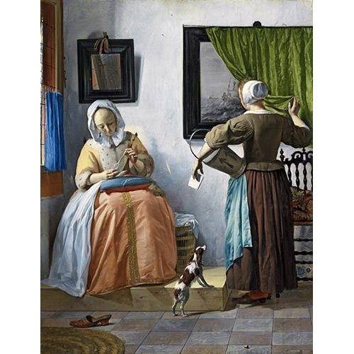 Quadro -Woman reading a letter-
