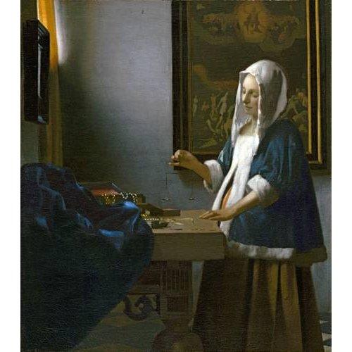 Quadro -Woman Holding a Balance-