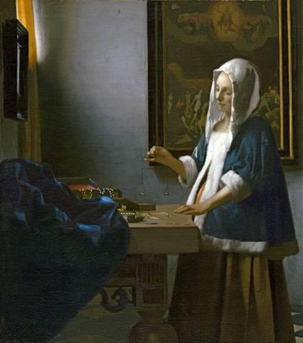 tableaux-de-personnages - Tableau -La Femme à la balance- - Vermeer, Johannes