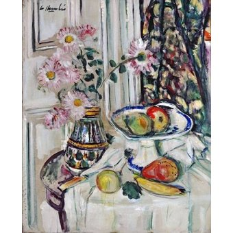 Tableaux nature morte - Tableau -Still Life With Daisies and Fruit- - Hunter, G.L.