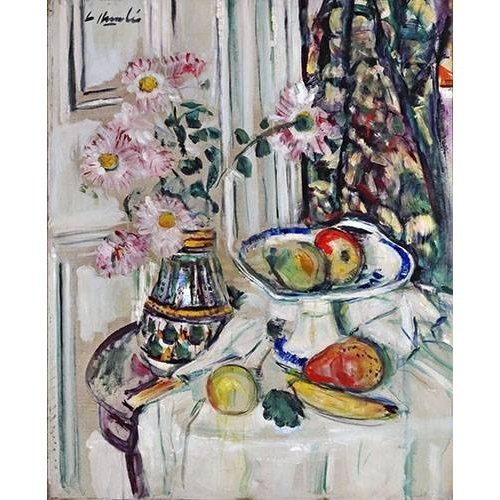 Tableau -Still Life With Daisies and Fruit-