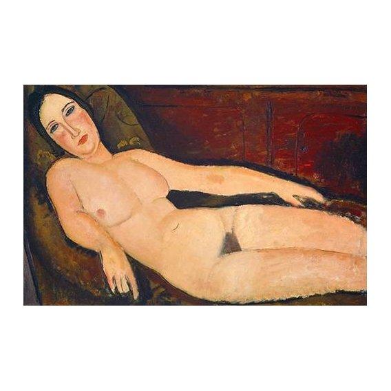 Quadro -Nude on a Divan, 1918-