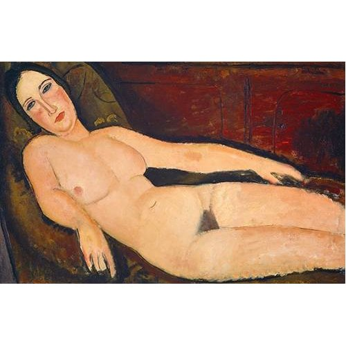 Tableau -Nude on a Divan, 1918-