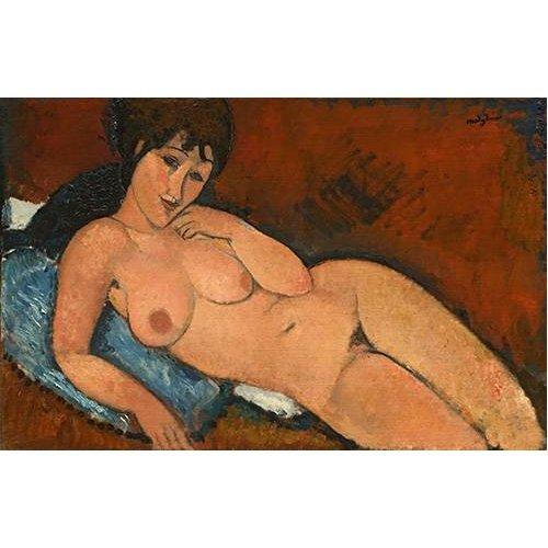 Tableau -Nude on a Blue Cushion-