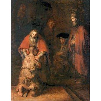 Tableaux religieuses - Tableau -O retorno do filho pródigo- - Rembrandt, Hermensz Van Rijn