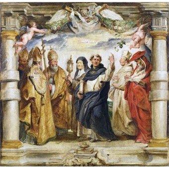Tableaux religieuses - Tableau -Los defensores de la eucaristia- - Rubens, Peter Paulus