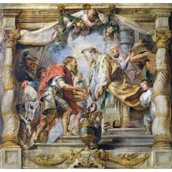 Tableaux religieuses - Tableau -El encuentro de Abraham y Melquisedec- - Rubens, Peter Paulus