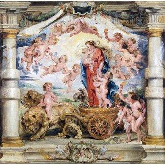 Tableaux religieuses - Tableau -El triunfo del amor divino- - Rubens, Peter Paulus