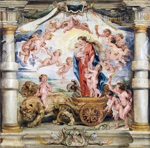 tableaux-religieuses - Tableau -El triunfo del amor divino- - Rubens, Peter Paulus