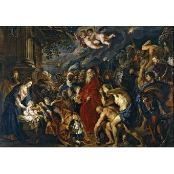 Tableaux religieuses - Tableau -La adoracion de los reyes magos- - Rubens, Peter Paulus